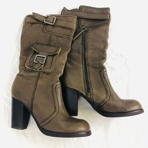 Report Military Cargo 'Victory' Leather Boots